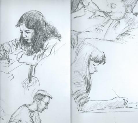 Détails.dessins à l'atelier des Econdeaux.Epinay sur Seine