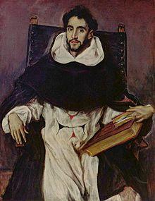 Portrait .Fray Hortensio Félix Paravicino;113/86 Le Greco. Photo Wikipédia