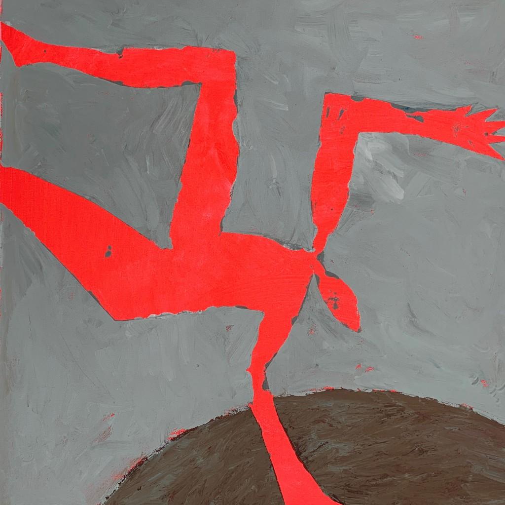 Chute d'Icare.2008, détail.Acrylique sur toile.